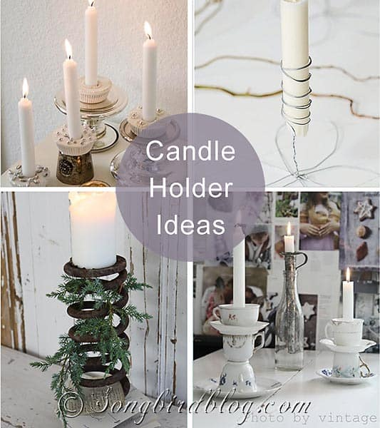 gathering of ideas for creative candle holders