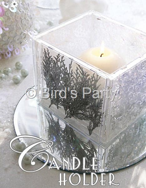 cd case candle holder