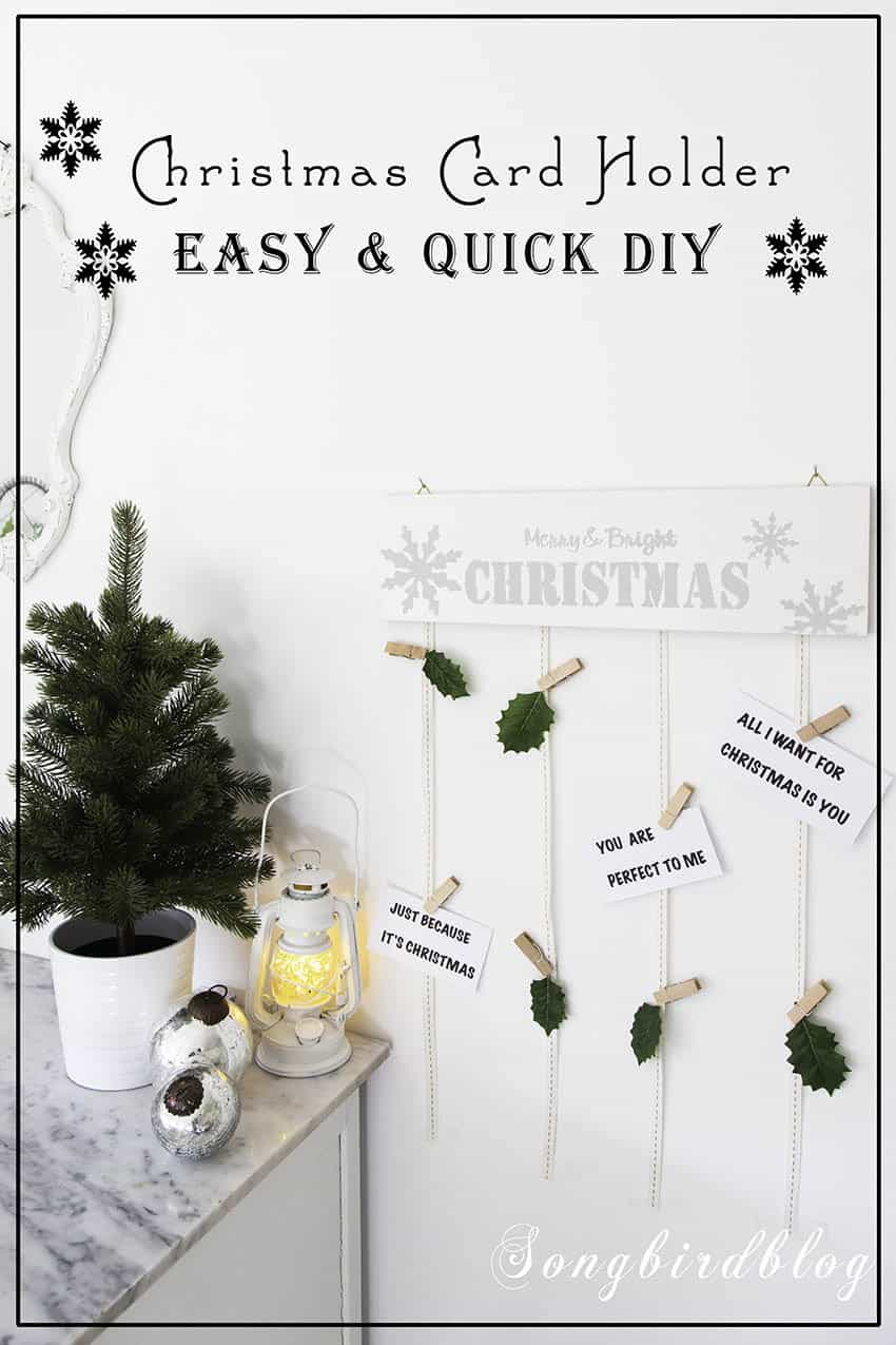 Christmas card holder easy diy project