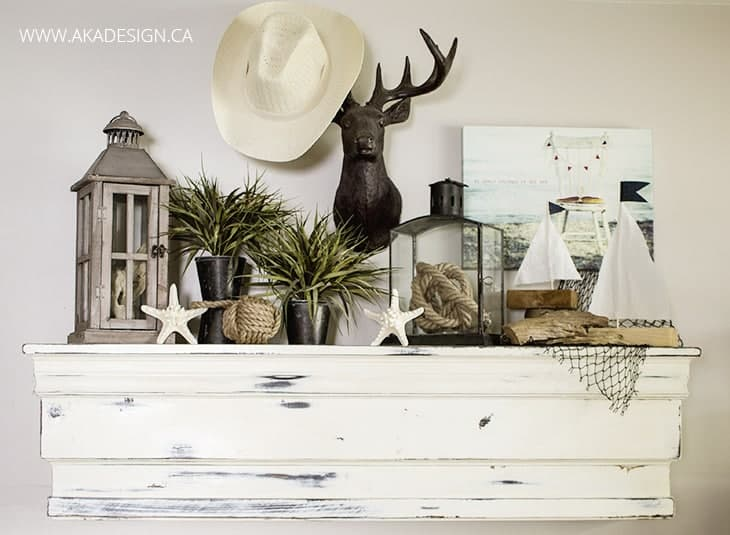 coastal summer mantel idea