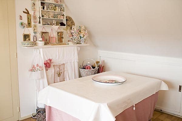 craft room corner before