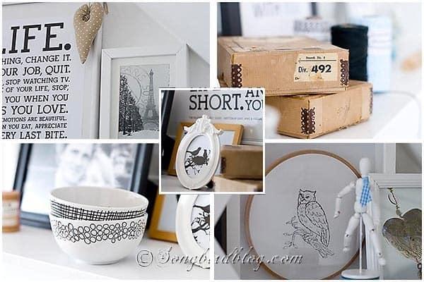 craft room details shelf decoration songbirdblog