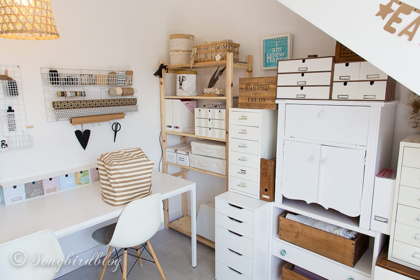 Craft Room Storage Solutions: Craft Room Tour In A Small Attic Space With Creative