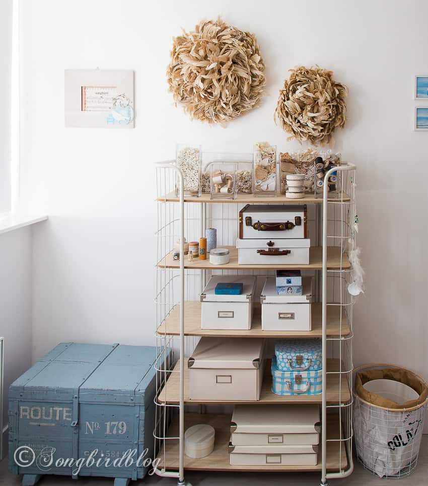 craft room tour attic space organization ideas solutions
