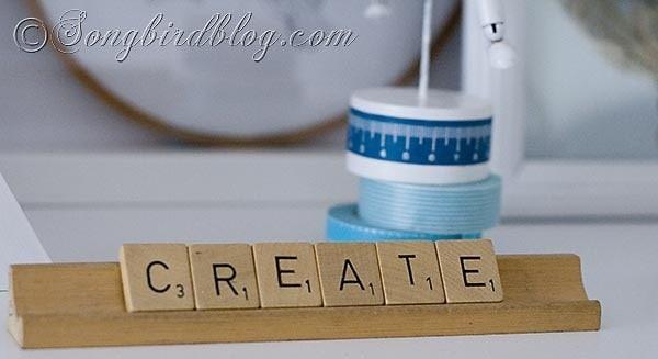 creat in Craft Room Reveal Songbirdblog