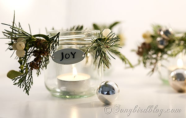 glass jar lanters Christmas decorations (4)