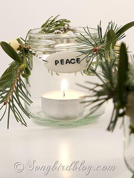 glass jar lanters Christmas decorations (1)