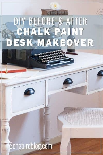 chalk paint desk before and after