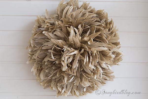 diy juju feather hat wreath tutorial songbirdblog