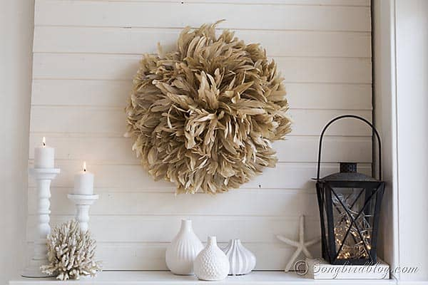 diy juju hat mantel decoration via Songbirdblog.com