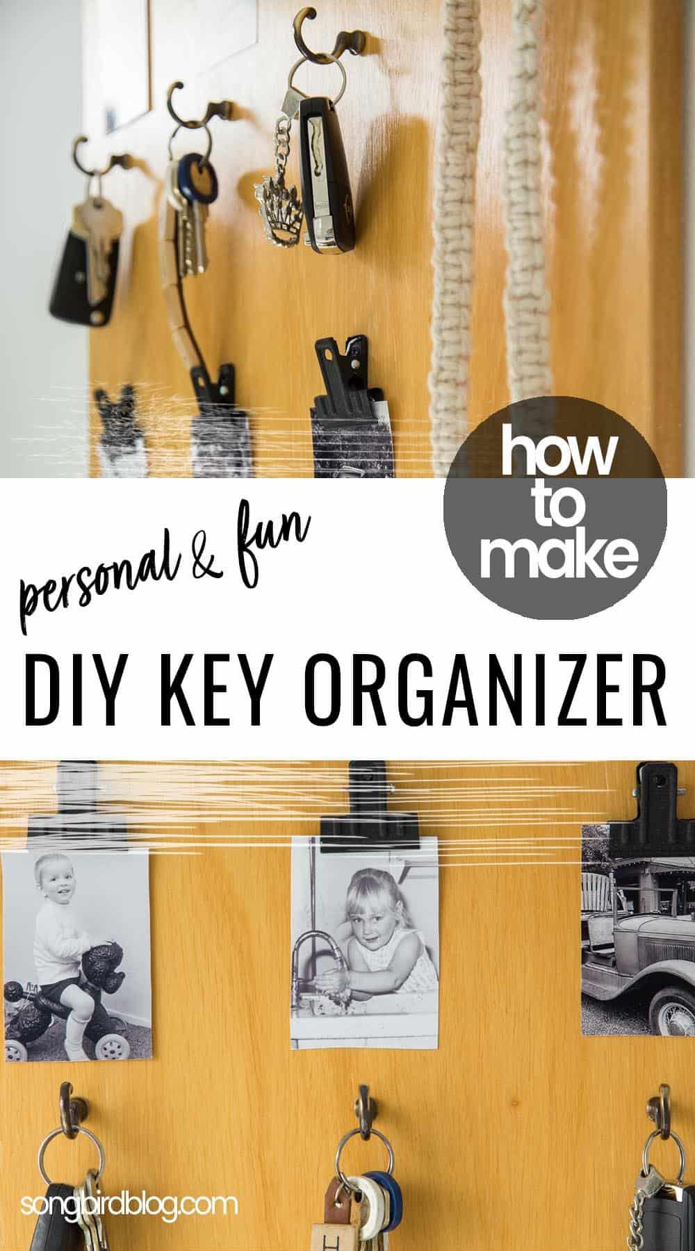 DIY key organizer for entryway wall
