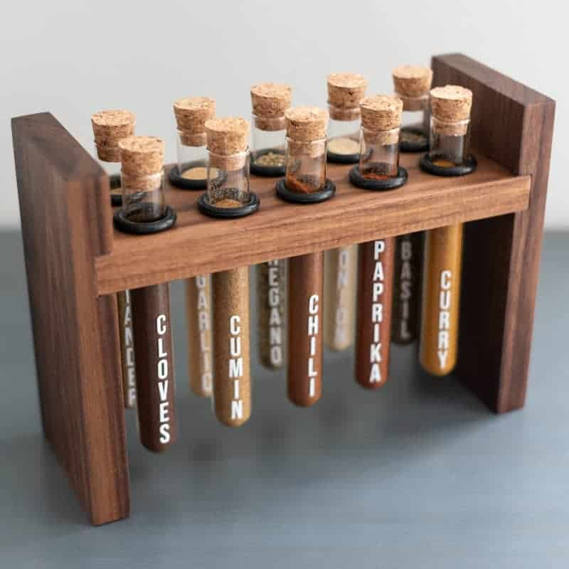 Spice rack DIY by the Handyman's Daughter featured at Songbirdblog