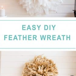 two feather wreaths collage