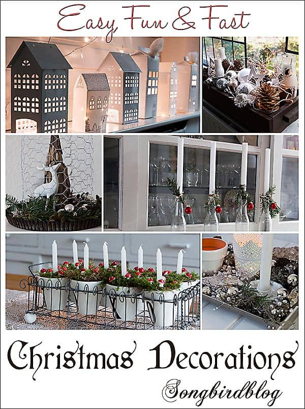 easy, fast and fun Christmas decorations Songbirdblog
