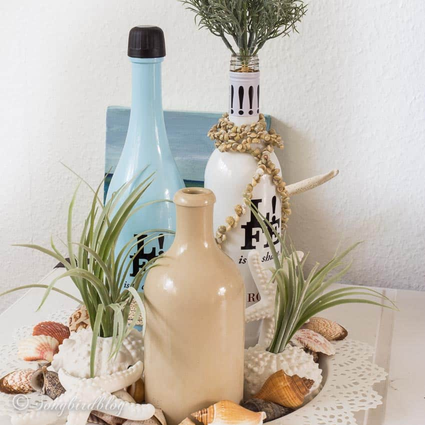 summer beach decor with easy summer centerpiece