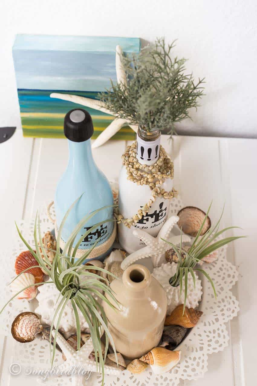 cheap beach decor summer centerpiece idea