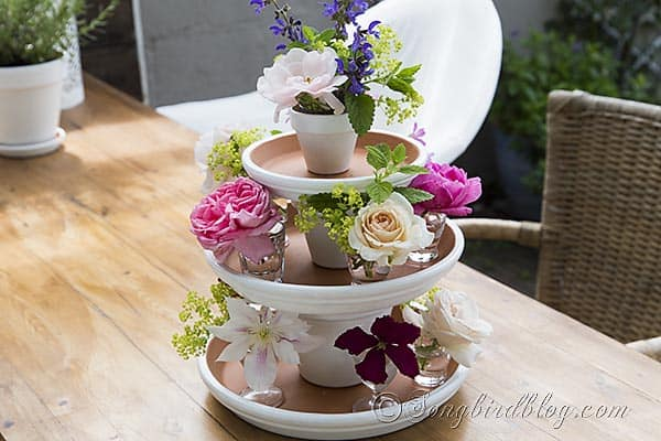 terracotta pots craft centerpiece summer decorating via Songbirdblog