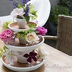painted terracotta pots centerpiece for summer via Songbirdblog.com