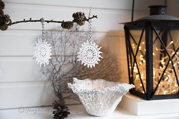 no-crochet crochet Christmas ornaments