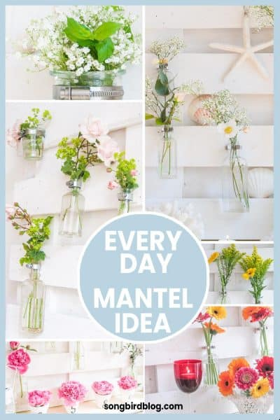 Everyday mantel decor ideas