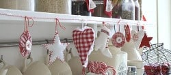 Christmas decoration from homemade ornaments