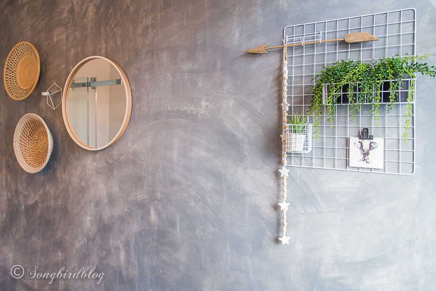 faux painted concrete wall