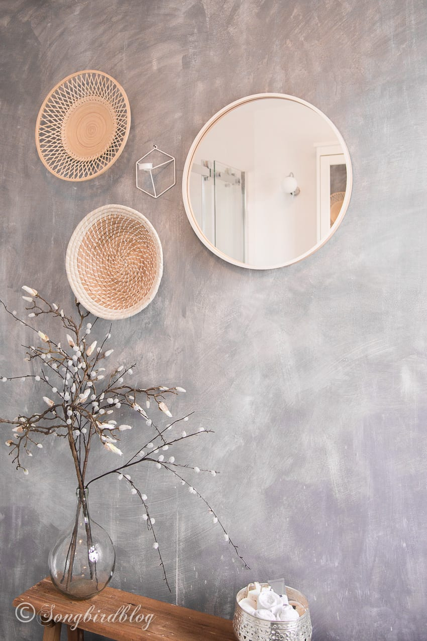 how to paint a faux concrete wall