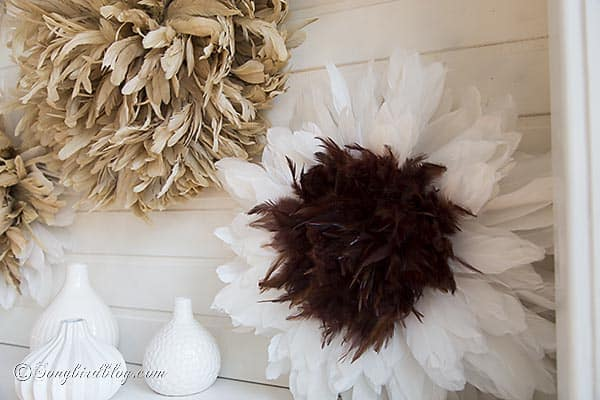 feather wreaths diy tutorial from songbirdblog