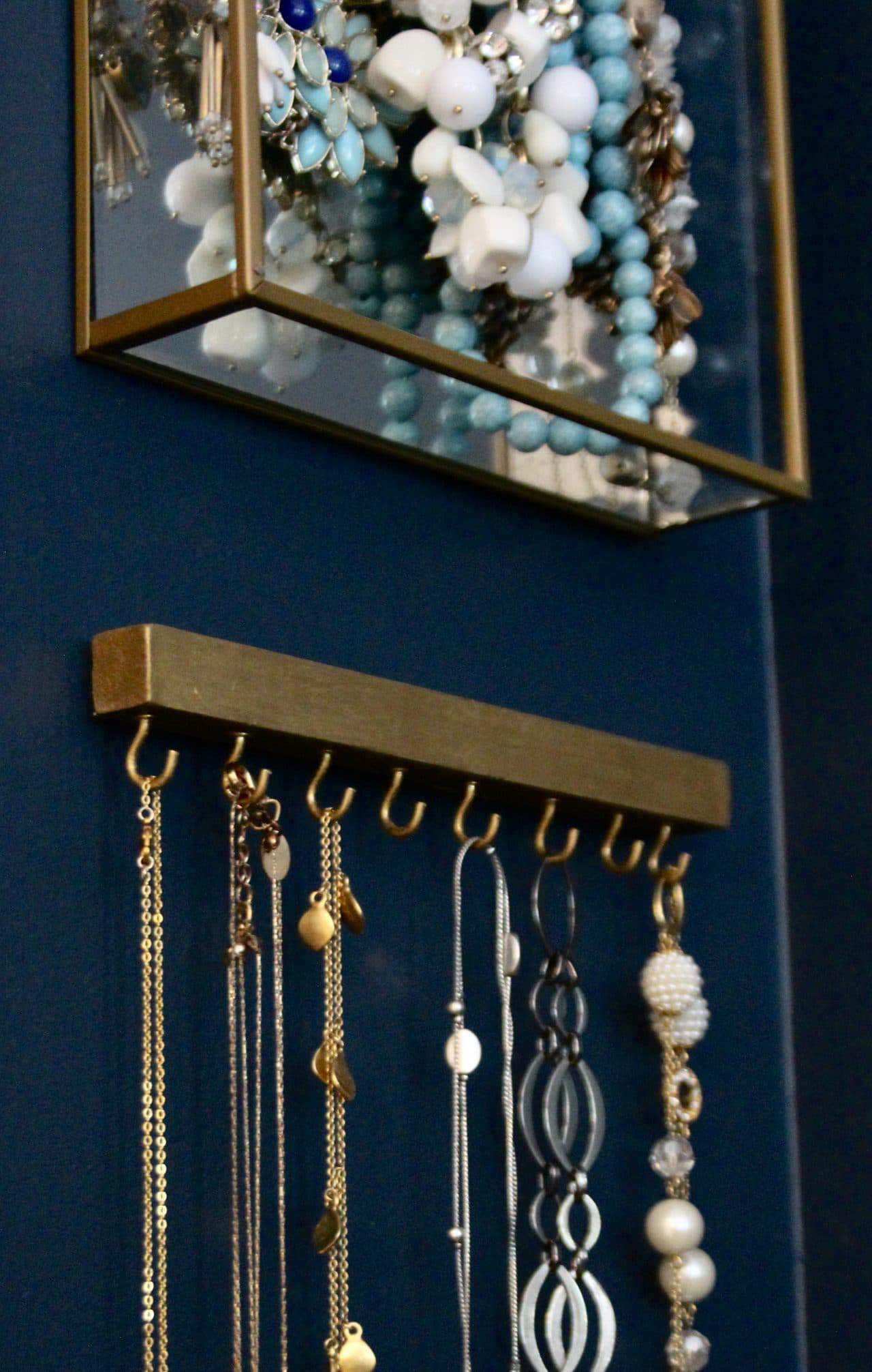 DIY  necklace organizer featured on Songbirdblog