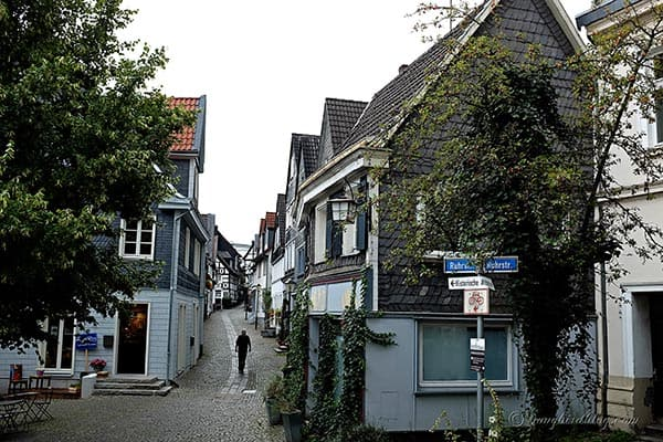 Kettwig Germany old town street view