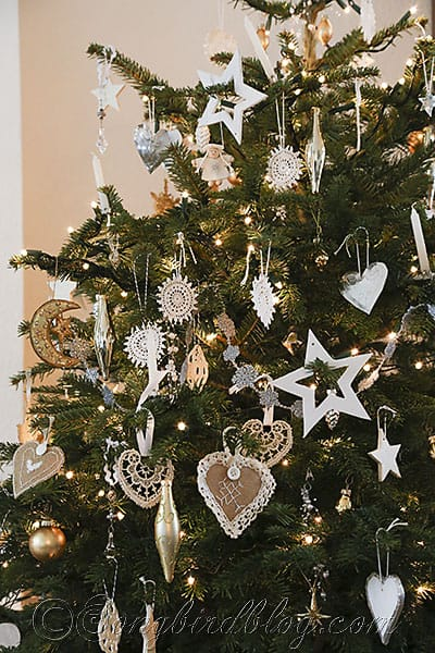 White Silver And Gold Christmas Tree