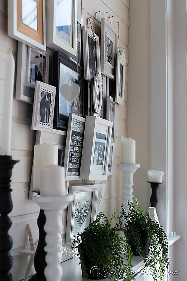 Layered Photo Frame Mantel Decoration Songbird