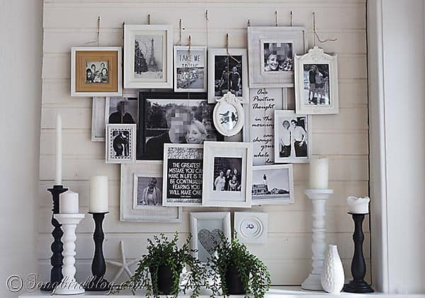 heart shaped photo display mantel decoration 6