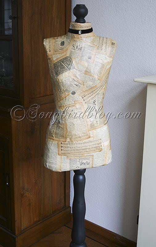 how to make a mannequin vintage dress form