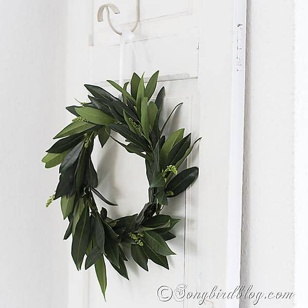 homemade leaf wreath 5