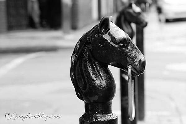 horse head hitching post New Orleans