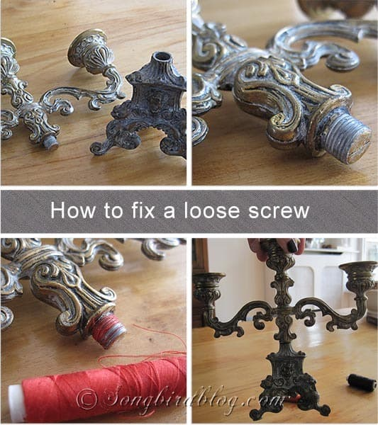 how to fix a loose screw