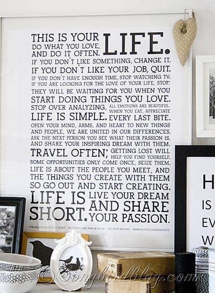 inspirational words Songbirdblog 7