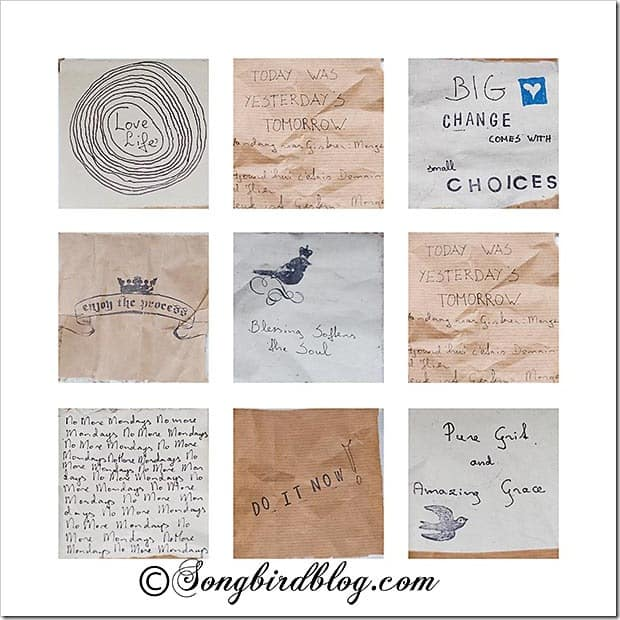 inspirational words Songbirdblog 9