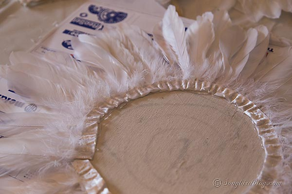 juju hat feather wreath tutorial how to diy songbirdblog