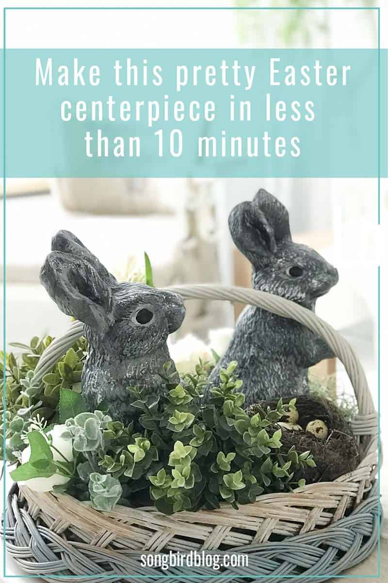 how to make an easter centerpiece in 10 minutes