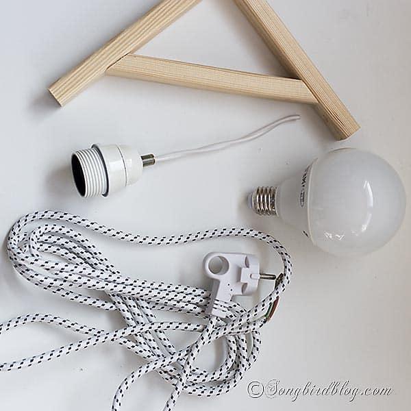making a modern homemade lamp