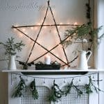 Natural Christmas Mantel Decoration. Day 3