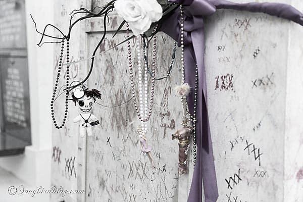 marie laveau voodoo grave detail New Orleans