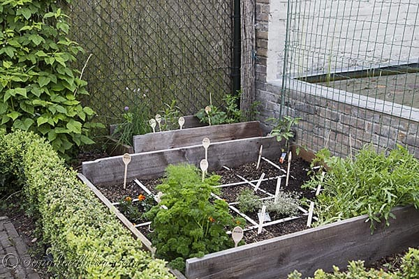 Mini Square Food Garden Markers Via Songbirdblog