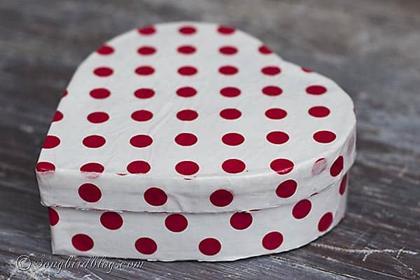 modpodged heart box polkadot papers