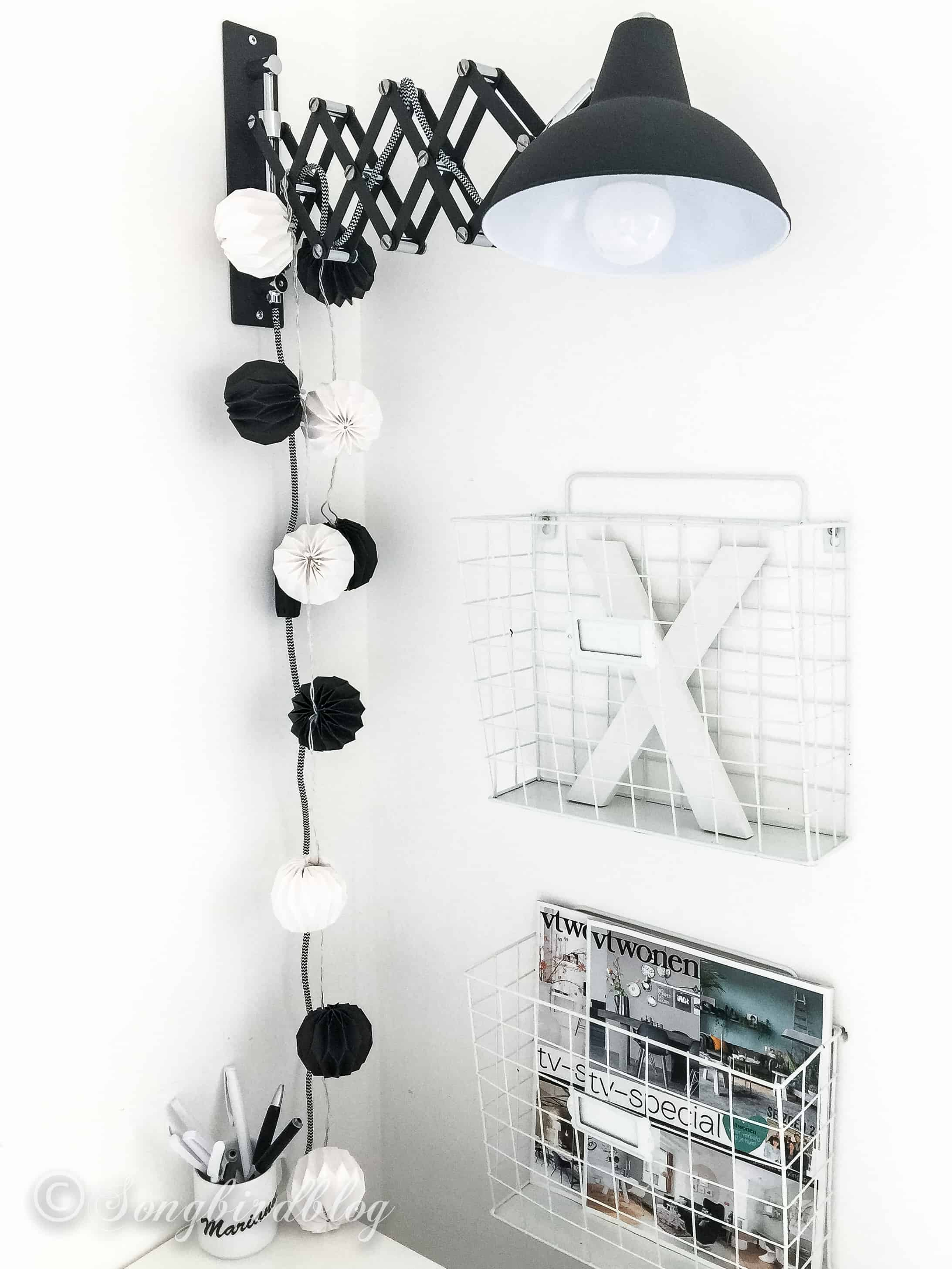black and white office decoration