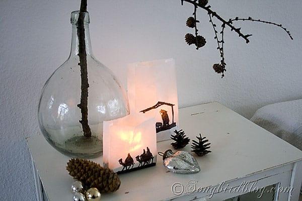 Christmas craft paper bags lanterns silhouette nativity (5)