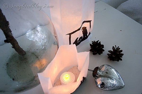 Christmas craft paper bags lanterns silhouette nativity (4)