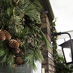 natural, rustic Christmas wreath thumb S
